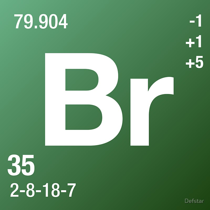 element bromine stickers by defstar redbubble