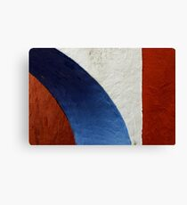 Terracotta, White and Blue Canvas Print