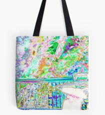 5d sunset of trees Tote Bag