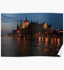 Hungarian Parliament Building at night #2 Poster