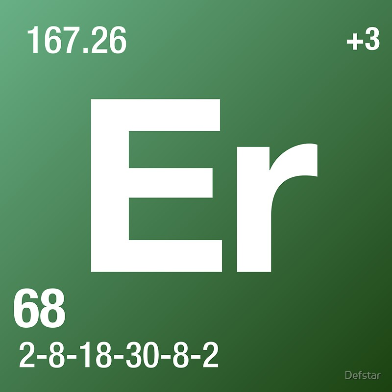 """Element Erbium"" Stickers by Defstar 