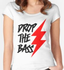Drop The Bass Women's Fitted Scoop T-Shirt