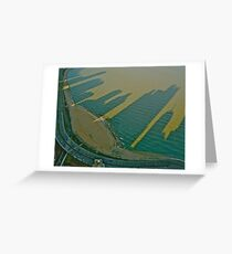 Oak St. Beach Shadows Greeting Card