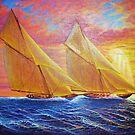 Magnificent Sea Sunset by jyruff