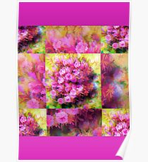 Touch Of Pink Flowers  Poster