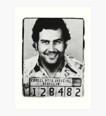 Escobar Mugshot Art Print