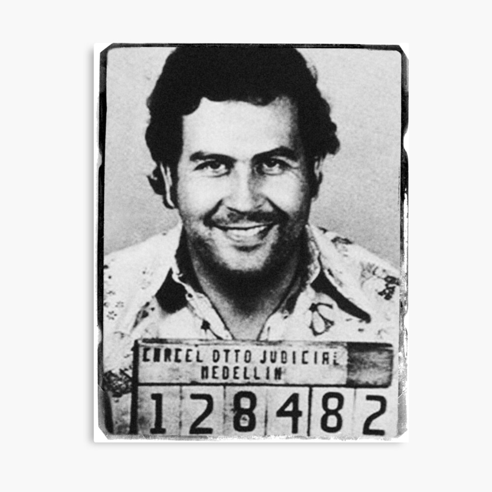 Escobar Mugshot Leinwanddruck