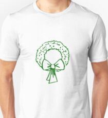 Vintage Green Christmas Wreath with Ribbon T-Shirt