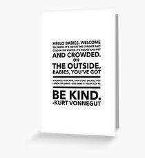 Vonnegut Quote Greeting Card