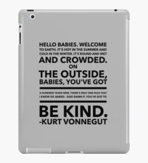 Vonnegut Quote iPad Case/Skin