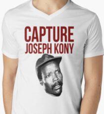 "Kony T-Shirt - ""Capture Kony"" Men's V-Neck T-Shirt"