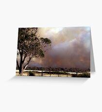 Bushfires Greeting Card