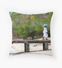two women on pemateran island Throw Pillow