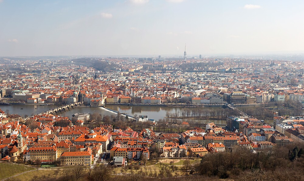 View from Petřín Lookout Tower by Nick Jermy