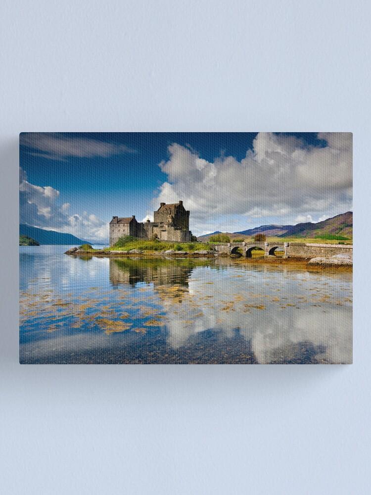 Alternate view of Scotland: Eilean Donan Sunshine Canvas Print