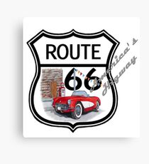 Route 66 vintage stylist america highway gifts Canvas Print