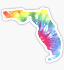 Florida Tie Dye Block Print Sticker