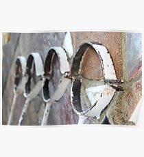 Antique Cast Iron Pipe Brackets 1 Poster