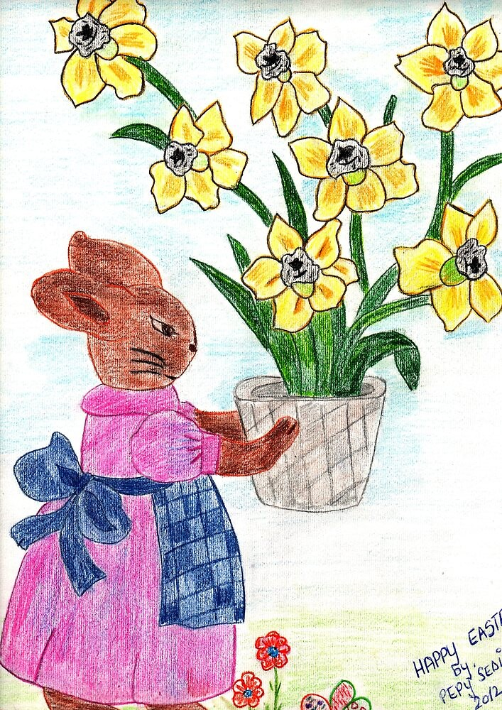 DAFFODILS FOR EASTER  by Kittycat10