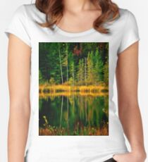 Fall Reflections Women's Fitted Scoop T-Shirt