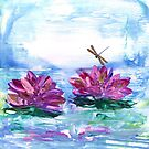 Water Lilies and Dragonfly by Catherine Price