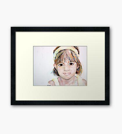 Portrait of Ellie Framed Print