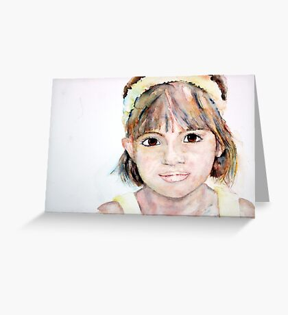 Portrait of Ellie Greeting Card