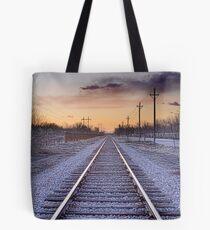 Train Tracks and Color Tote Bag