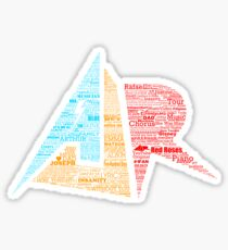 AJR typography - Solid Default Colours Sticker