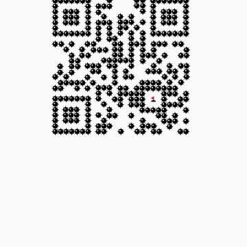 MineSweeper QR Code T-Shirt by ashadi