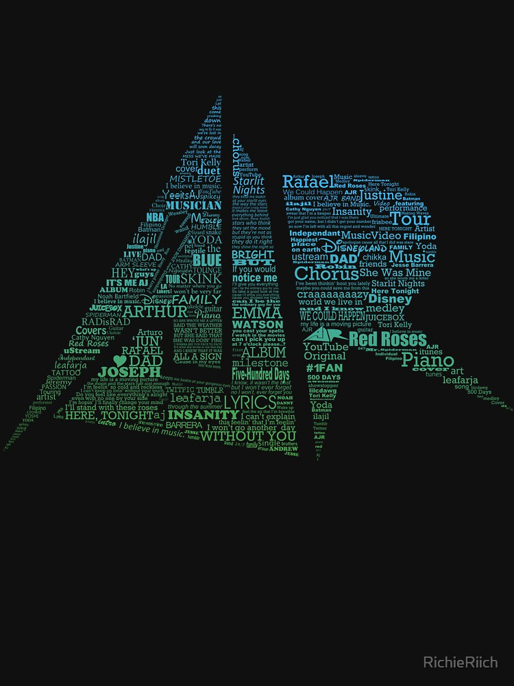 AJR typography - Green/Blue Gradient by RichieRiich