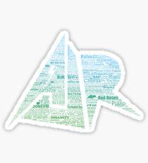 AJR typography - Green/Blue Gradient Sticker