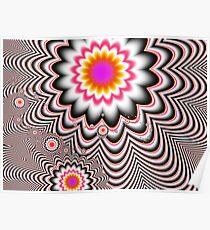 Hypnotizing Flowers  Poster