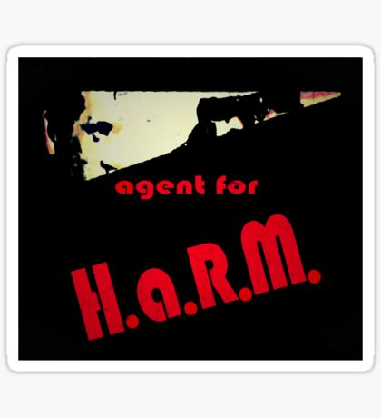 Agent for H.A.R.M. tee Sticker