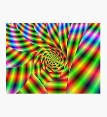 Psychedelic Spiral Photographic Print