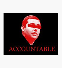 Not Accountable Photographic Print