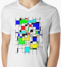 Random Squares Men's V-Neck T-Shirt