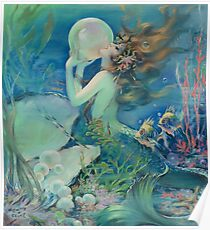 The Mermaid by Henry Clive Poster