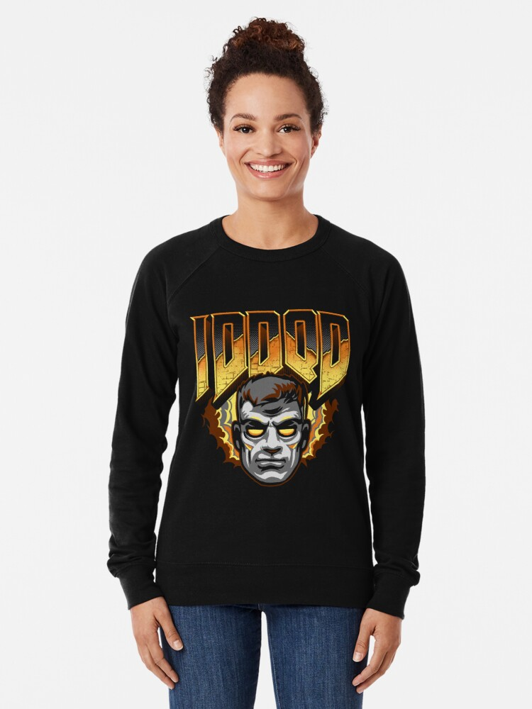 Alternate view of IDDQD - GOD MODE Lightweight Sweatshirt