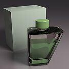 purfume bottle - 3D render by gordon anderson