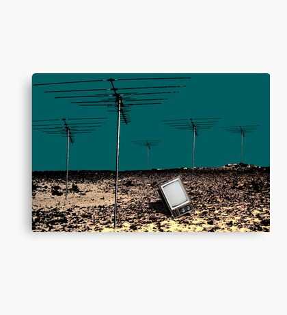 TV is Dead Canvas Print