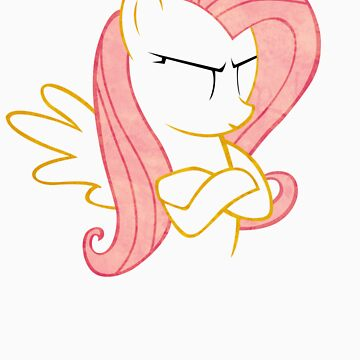 FlutterShy: Not amused Outline  by LcPsycho