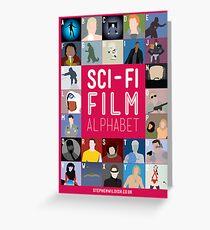 The Sci-fi Film Alphabet Greeting Card
