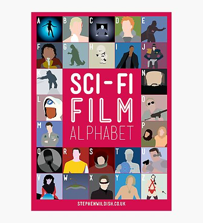 The Sci-fi Film Alphabet Photographic Print