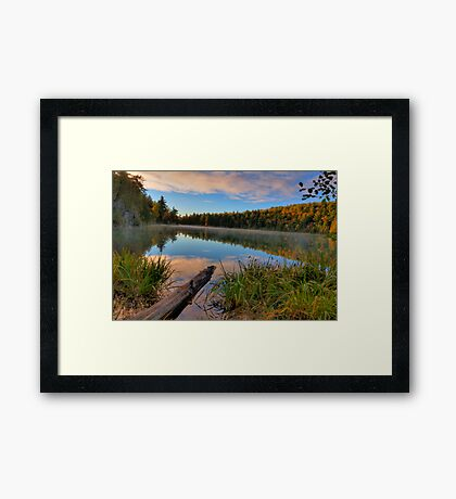 Pink Lake Reflections Framed Print