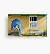 A Very Colourful Toilet Block Canvas Print