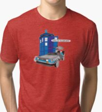 Time Travel Jump Start Tri-blend T-Shirt