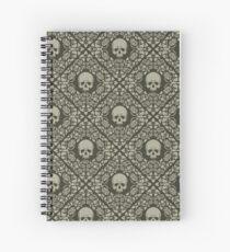 Skulls and roses Spiral Notebook