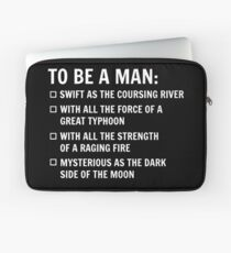 To Be A Man Laptop Sleeve