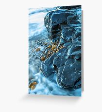 Abstract Blue Rocks Greeting Card